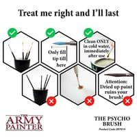 Wargamer Psycho Brush | The Army Painter | Black Star Games | UK